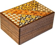 4 Sun 10 Steps Koyosegi Walnut  - Japanese Puzzle Box