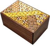 5 Sun 21 Steps Koyosegi-Walnut Japanese Puzzle Box