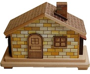 House Large 12 Steps - Japanese Puzzle Box