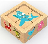 Buddy Blocks Sea Life - Wooden Puzzle Set