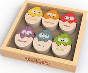 Color 'n Eggs - Chunky Color Learning Wooden Puzzle
