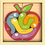 Color Crawlers - Color Language Learning Wood Puzzles Palyset