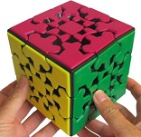 XXL Gear Cube Black - Meffert's Rotation Brain Teaser Puzzle