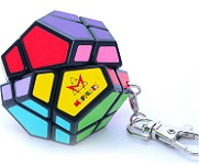Skewb Mini Keychain - Meffert's Rotation Puzzle