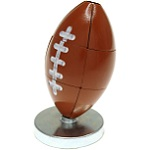 Magnetic 3d Football Desktop Puzzle - Brown