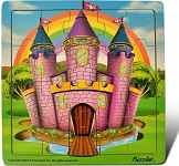 Castle  - Jigsaw 21 Pieces Wooden Puzzle