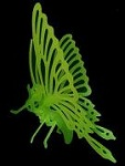 Butterfly 3D Jigsaw Puzzle Glow In The Dark Construction Kit