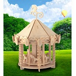 Carousel - 3D Jigsaw Woodcraft Kit Wooden Puzzle
