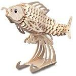 Carp Fish - 3D Jigsaw Woodcraft Kit Wooden Puzzle