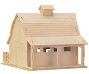 Farm Barn - 3D Jigsaw Woodcraft Kit Wooden Puzzle