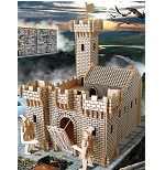Fortress - 3D Jigsaw Woodcraft Kit Wooden Puzzle