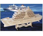 Cruise Ship - 3D Jigsaw Woodcraft Kit Wooden Puzzle