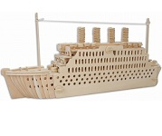Titanic Ship 3D Puzzle - Jigsaw Woodcraft Kit Wooden Puzzle
