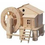 Water Mill - 3D Jigsaw Woodcraft Kit Wooden Puzzle
