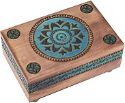Blue Kaleidoscope - Secret Wooden Puzzle Box