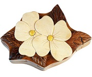 Dogwood Flower - Secret Wooden Puzzle Box