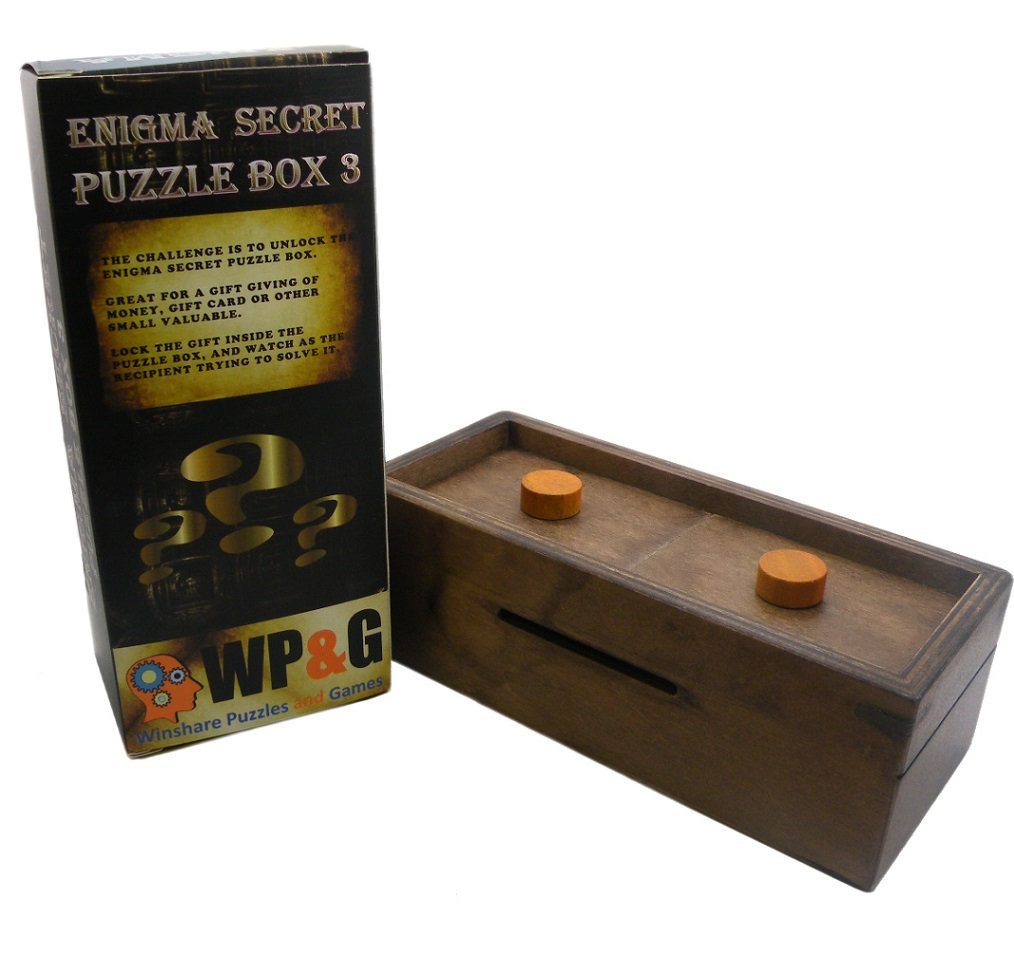 Enigma Secret Puzzle Box Explorer Money Gift Trick Box