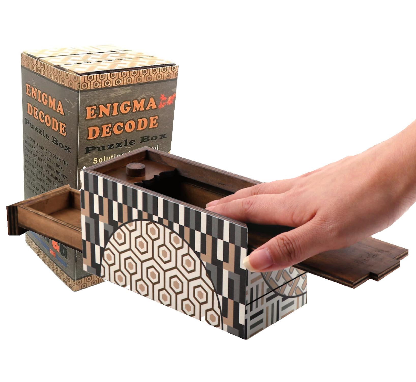 Enigma Decode Puzzle Box Money Gift Giving Secret Box