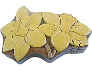 Daffodil Flower - Secret Wooden Puzzle Box