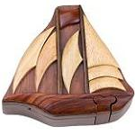 Ship - Secret Wooden Puzzle Box