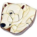 Polar Bear - Secret Wooden Puzzle Box