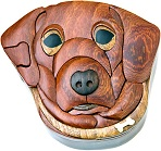 Dog - Secret Wooden Puzzle Box