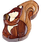 Squirrel - Secret Wooden Puzzle Box
