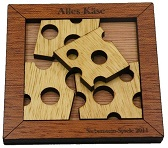 Alles Käse - Wooden Brain Teaser Puzzle Packing Problem