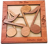 For Elise Music Notes - Wooden Puzzle Packing Problem