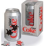 Diet Coca Cola Can - 3D Jigsaw Puzzle