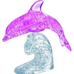 3d Deluxe Crystal Puzzle Pink Dolphin
