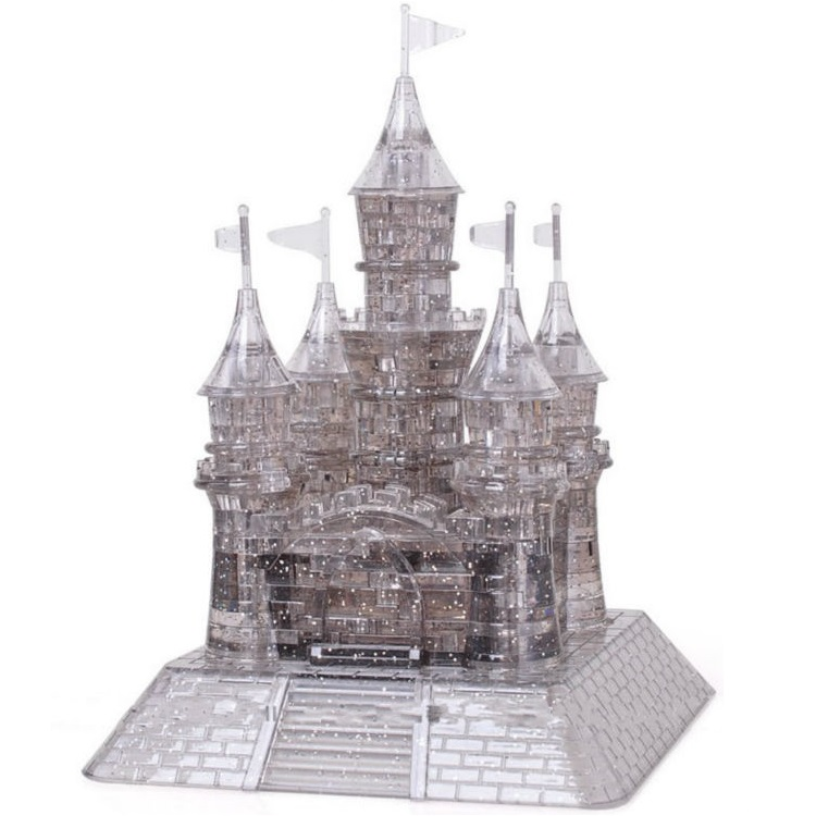 3d Deluxe Crystal Puzzle Black Castle