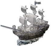 3d Deluxe Crystal Puzzle Pirate Ship Black