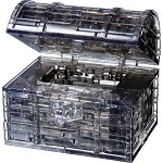3d Crystal Puzzle Black Treasure Box