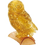 3d Crystal Puzzle Owl - Gold Color