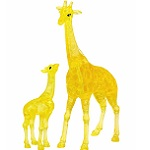 3d Crystal Puzzle Giraffe & Baby