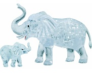 3d Crystal Puzzle Elephant & Baby