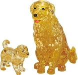 3d Crystal Puzzle Dog & Puppy