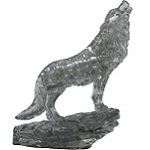 3d Crystal Puzzle Wolf - Black Color