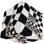 V-Cube Chessboard Illusion 3x3 - Flat Cube Twisty Puzzle