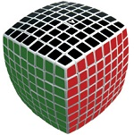 V-Cube 8 White Pillowed Multicolor Cube Puzzle