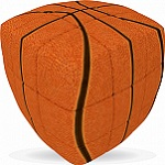 V-Cube 3 Pillowed - Basketball 3x3 Twisty Puzzle