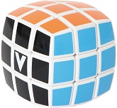V-Cube 3 White Pillowed Multicolor Cube Puzzle