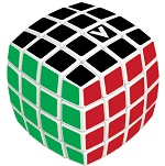 V-Cube 4 White Pillowed Multicolor Cube Puzzle