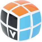 V-Cube 2 White Pillowed Multicolor Cube Puzzle