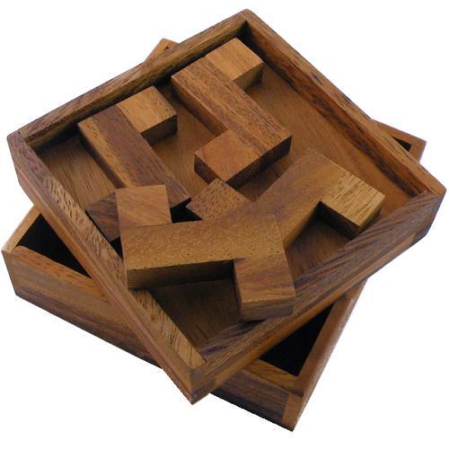 Four Z's Wooden Puzzle Brain Teaser