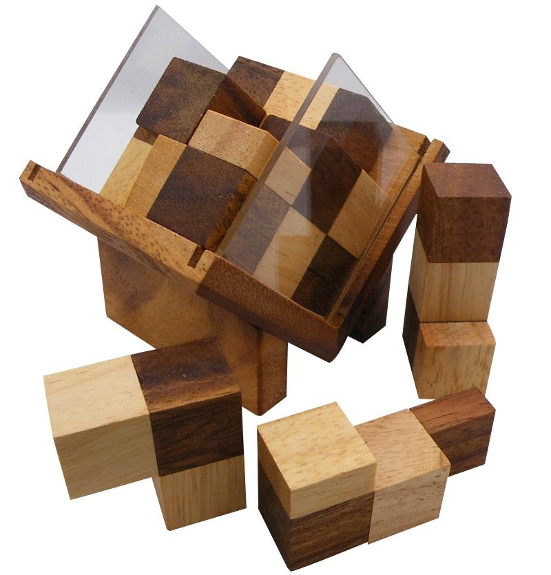 Complex Cube - Brain Teaser Wooden Puzzle