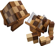 Complex Cube - Brain Teaser Wooden Puzzle