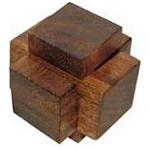 Three Pieces - Brain Teaser Wooden Puzzle