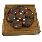 Circles Color Match Brain Teaser Wood Puzzle